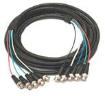 Kramer C-5BM/5BM-15 Molded 5 BNC-BNC Cable, 15 ft.