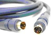Molded 4-Pin S-Video Cable, 3 Ft