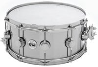 """DW DRVM6514SVC Collector's Series 6.5"""" x 14"""" Aluminum Snare Drum with Chrome Hardware"""
