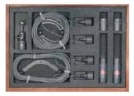 Stereo Cardioid Microphone Set: 2x KM 140 Mics, 2x LC 3 KA 10m Mic Cables, 1x STH 100 Stereo Mic Mount, & Wood Box