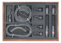Stereo Hypercardioid Microphone Set: 2x KM 150 Mics, 2x LC 3 KA 10m Mic Cables, 1x STH 100 Stereo Mic Mount, & Wood Box
