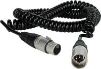 TecNec ICOMX4MF-10C 4pin Intercom Coiled Extension Cable, 10ft ICOMX4MF-10C