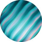Rosco 33004  Cyan Colorwaves Gobo: Size B