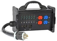 Lex BNB2-3B 30 Amp Bento Box with Tail Input to NEMA Receptacles
