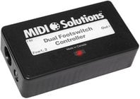 MIDI Solutions DUAL-FOOTSWITCH Dual Footswitch Controller Multi Function MIDI Event Generator