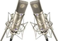 Neumann U87 Ai/Z Stereo Pair Matched Pair of U 87 Ai Multipattern Large Diaphragm Condenser Microphones with Case, 2x EA 87 Shockmounts