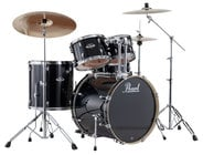"Pearl Drums EXX725-31 EXX Export Series 5-Piece Drum Kit in Jet Black with Hardware: 18x22"" Bass Drum, 8/9"" Rack Toms, 16x16"" Floor Tom, 5.5""x14"" Snare Drum"