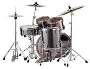 EXX Export Series 5-Piece Drum Kit with Hardware in Smokey Chrome Finish