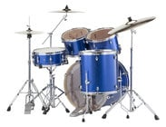 EXX Export Series 5-Piece Drum Kit with Hardware in Blue Sparkle Finish