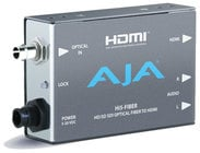 AJA Video Systems Inc Hi5-Fiber HD/SD-SDI Over Fiber to HDMI Video and Audio Mini Converter with Power Supply