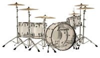 """Ludwig L8264LX38 Vistalite """"Zep Set"""" 5 Piece Shell Pack in Clear"""