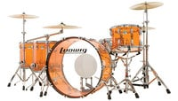 "Ludwig L8264LX47 Vistalite ""Zep Set"" 5 Piece Shell Pack in Amber"
