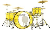 "Ludwig L8264LX56 Vistalite ""Zep Set"" 5 Piece Shell Pack in Yellow"