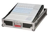 14U Slant Top Mixer Case with Fixed Rail