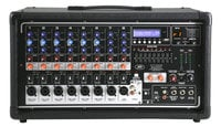 8 Channel 400W Powered Mixer with iPod / iPhone Dock