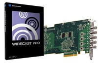 Quad HD-SDI Capture Card with Telestream Wirecast Pro 4 for Windows