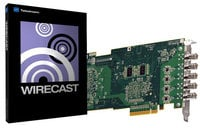 Quad HD-SDI Capture Card with Telestream Wirecast Studio 4 for Windows