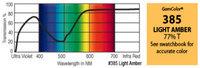 """GAM 385-GAM 20"""" x 24"""" GamColor Light Amber Gel Filter"""