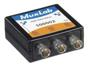 "MuxLab MUX-500002 RGB Video Balun with 3x BNC Connectors & 3x 10"" Coax Video Jumper Cables"