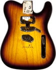 2-Tone SUnburst SSH Ash Electric Guitar Body with Modern Bridge Mount