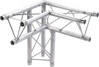 Global Truss TR-96117-34 1.64 ft (0.5m) 3-Way 90 Degree Left Corner Triangular Apex TR96117-34
