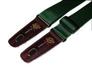 "Lock It Straps LIS-007-P2-HGRN/BRN 2"" Dark Green Polypro Guitar Strap with Brown Locking Ends"