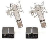 Miktek Audio CV4MP Matched Pair of Large Diaphragm Multi-Pattern Tube Condenser Microphone