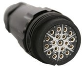 Lex LSC19-LFC-29 19-Pin 6-Circuit LSC19 Female Inline Connector with Crimp Termination