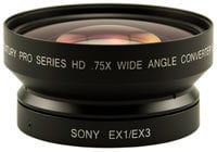 Century Optics 0HD-75CV-EX3  0.75x HD Wide Angle Converter Lens with Bayonet Mount