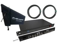 RF Venue DFINDISTRO4 Diversity Fin and 4-Channel RF + DC Antenna Distributor Bundle Pack