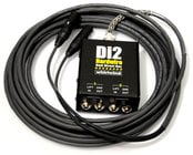 Whirlwind DI2-015-XX 15ft 2-Channel DI-XLR Box-to-Fan Snake