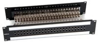 2x24, 2 RU, Black Dual Body, Normal / Terminating / High Bandwidth E-Series WECO Video Patchbay