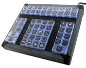 PI Engineering XK-0979-UBK60-R X-Keys XK-60 60-Key Programmable USB Keypad