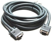 Molded Male VGA to Female VGA Cable, 50 ft.