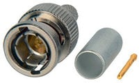 75 Ohm Straight BNC Connector with Notched Bayonets for 1855, RGBS250, VDM250D, VDM230 Cable Type