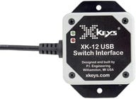 PI Engineering, Inc. X-Keys XK-12 USB Switch Interface USB Switch Interface with 6 Programmable Ports XK-1202-UHS12-R