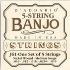D`Addario J61 Medium Banjo Strings J61