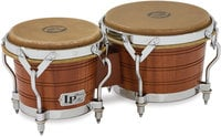 Latin Percussion LP1964 50th Anniversary 1964 Replica Original Mahogany Bongos