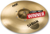 "Sabian 216XISOCB 16"" AAX Iso Crash Cymbal in Natural Finish"