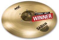 "Sabian 218XISOCB 18"" AAX Iso Crash Cymbal in Natural Finish"