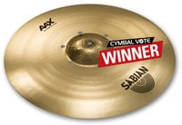"Sabian 220XISOCB 20"" AAX Iso Crash Cymbal in Natural Finish"