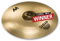 "Sabian 2200772B 20"" AA Raw Bell Crash in Brillant Finish"