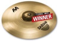 "Sabian 2180772 18"" AA Raw Bell Crash Cymbal in Natural Finish"