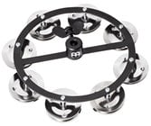 "Meinl Percussion HTHH1BK  5"" Headliner Series Hi-Hat Tambourine with 1 Row of Steel Jingles"