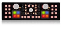 USB MIDI DJ Controller with Touch Panel in Black