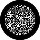 """""""Pixel Pattern"""" Steel Gobo"""
