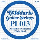 "Dunlop Manufacturing DPS13 .013"" Plain Steel Single Guitar String"