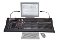 "Leprecon Version III LPC-48V-ELO19 LPC Series 48-Channel Lighting Console with Encoders and 19"" ELO Touch Screen Monitor"