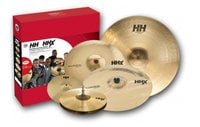 "HHX/HH Praise Pack Cymbal Set with 12"" Splash, 13"" Hi-Hats, 16"" Crash, 21"" Raw Bell Dry Crash, 18"" Crash Cymbal in Natural Finish"