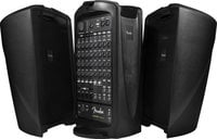 10 Channel 600 Watt Portable PA System with USB Playback/Recording